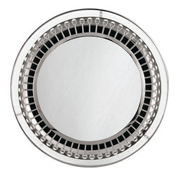 Robert Abbey - Jonathan Adler Mayfair Mirror - This mirror will have you seeing things crystal clear. It's framed with polished nickel spokes capped with crystal finials that refract and reflect light for the most amazing sparkle. Hang it in your entryway to make a grand first impression or anywhere that could use a little extra shine.