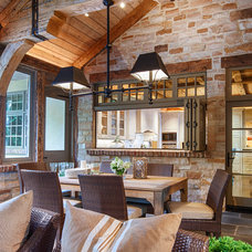 Rustic Dining Room by DeLeers Construction, Inc.