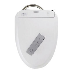 """Toto - Toto SW573#01 S300E Series Round Bowl Washlet Seat with eWater (Cotton White) - This washlet features a slim new design, with a 4"""" height, and gives you the same satisfyingly hygienic experience with warm water washing, including the Wonderwave Spray. It also features the new eWater+ function that mists the bowl after each use, making a clean bowl easier to maintain and reducing the need for chemicals during cleaning. It features a warm air dryer, an automatic air deodorizer, and a heated seat with temperature control."""