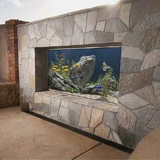 Contemporary Patio by Ocean Blue Pools and Landscaping