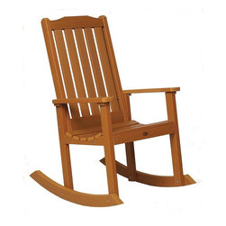 Phat Tommy - Eco-Friendly Rocking Chair in Toffee - If you seek the natural look of wood, but would like a product that can be left outside year after year without the maintenance headaches of real-wood, then Highwood is for you. These pieces are a beautiful, elegant and durable choice for your outdoor living space.