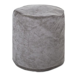 Majestic Home Goods - Villa Small Pouf, Vintage - Add comfort and flare to any room with Majestic Home Goods Villa small pouf ottomans. These small poufs can be used as a foot stool, side table or as extra seating. The beanbag inserts are eco-friendly by using up to 50% recycled polystyrene beads. The removable zippered slipcovers are woven from 100% polyester Micro-velvet. Spot clean slipcover with mild detergent and hang dry. Do not wash insert.