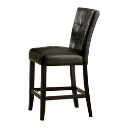 Homelegance - Homelegance Archstone Counter Height Chair with Black Bi-Cast Vinyl [Set of 2] - Contemporary design, sleek seating and the combination of black finish with white accents are all the ingredients you need to create a stylish setting for exceptional dining. The white faux marble top pairs perfectly with a cut out center chair back, the color contrast and stylish design create a rich visual enhancement. Chairs are available in white bi-cast vinyl and black bi-cast vinyl.