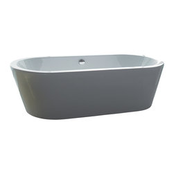 "AKDY - AKDY AK-ZF224 Europe Style White Acrylic Free Standing Bathtub, 71"" - AKDY free standing acrylic bathtubs come in many styles, shapes, and designs. The acrylic material used for tubs is very durable, light weight, and can be molded into a variety of shapes and styles which explain the large selection available in this product category. Acrylic free standing tubs are a cost efficient way to give your bathroom a unique beautiful touch. A bathtub is no longer just a piece of cast iron metal thrown into a bathroom by a builder."