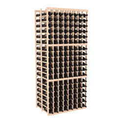 Wine Racks America - 8 Column Double Deep Cellar in Pine, Satin Finish - This high capacity 8 column wine rack holds up to 24 cases of wine. Designed for beauty and efficiency, you'll love this rack. Made in the USA and guaranteed to last a lifetime. Double deep wine racks are perfect for large wine cellars and retail applications. Great for restaurants, bars or private collections.