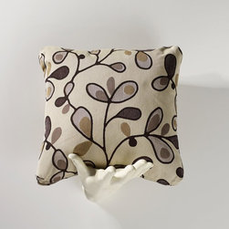 Homeware - Homeware Stone Accent Pillows - Set of 2 - HWP011-18-105STN - Shop for Pillows from Hayneedle.com! A gracious simplicity becomes your living room with the contemporary floral Homeware Stone Accent Pillows - Set of 2. Twining vines and floral forms cover the ground in carefully chosen neutral shades: taupe ivory chocolate and greys. It's an accent that's at home among brights or to add a spot of detail to a quiet retreat.Not available for sale in or delivery to the state of California.About HomewareHomeware is driven by an innovative spirit and a passion to change the way America buys and lives with furniture. Homeware wants to save you from shopping in a big box bringing home a smaller box and ultimately being psychologically harmed by your encounter with a slew of parts and incomprehensible assembly instructions. Instead of that Homeware supports your choice to shop in your jammies and Homeware is determined to support your success. Homeware chairs are made to live and move with you. They come to you in two pieces within two special boxes and regardless how rudimentary your handyman skills may be YOU can assemble them without tools. Within minutes they assure you you will be enjoying a chair that's as sturdy and solid as any you've beheld. The secret? It's designer and engineer Jon Koch's ingenious and revolutionary fastening device which makes possible speedy chair assembly by the mechanically uninitiated. Homeware keeps a stable of furniture savants on call 24-7 to answer your questions including but not limited to questions about their chairs and pillows and they stand behind their products with bravado.