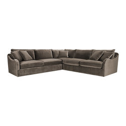 Leeward Sectional - With family and a carefree attitude in mind, our Leeward Sectional was handcrafted by upholstery artisans in North Carolina. Gracefully stylish and comfortable with ample seating, this collection is expertly fitted in our soft, neutral and very durable Vernon Mink fabric. Customize from hundreds of fabrics and leathers to fit your everyday lifestyle.