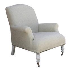 NOIR - NOIR Furniture - Statten Hall Arm Chair in Vintage Grey - SOF145AVGRF - Features: