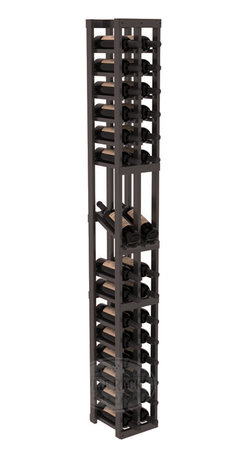 2 Column Display Row Cellar Kit in Pine with Black Stain + Satin Finish - Make your best vintage the focal point of your wine cellar. High-reveal display rows create a more intimate setting for avid collectors' wine cellars. Our wine cellar kits are constructed to industry-leading standards. You'll be satisfied. We guarantee it.