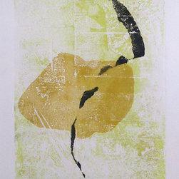 Bimal Banerjee, Spiritual Forms and Lemon Yellow, Etching and Mixed Media - Artist:  Bimal Banerjee, Indian/American (1939 - )
