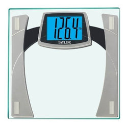 Taylor - Large Display Bathroom Scale - Glass electronic scale with accu-glow backlit display.