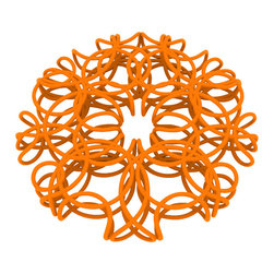 Matt Grote - 3D Printed Wire Flower Coaster, Orange - Dive into spring with the flowery wire coaster. A blooming design that looks like a flower, it's sure complement your home or office. A fun way to decorate your home while keeping your furniture protected. A modern twist on the ever-handy coaster.