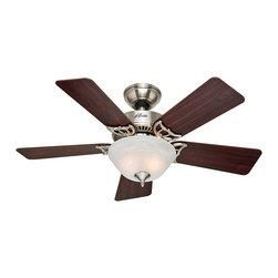 """Hunter Fan Company - Hunter Fan Company 51015 The Kensington Brushed Nickel 52"""" Ceiling Fan - Hunter Fan Company 51015 The Kensington Brushed Nickel 52"""" Ceiling Fan"""