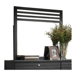 "Coaster - Coaster Richmond Slat Landscape Mirror in Black - Coaster - Mirrors - 202724 - This crisply designed landscape mirror instantly updates your space with calm contemporary finesse. Finished in a deep black the frame includes striking slat detail above the mirror. Place this mirror on top of your dresser for a stylish and functional bedroom look.Frame Material: WoodWood & Finish: Black FinishStyle: ContemporaryMirror Type: Landscape MirrorSpecifications:Overall Product Dimensions: 40"" H x 38"" W x 1.5"" D Weight: 25.35 lbs."