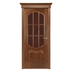 Prestige Oak Classic Interior Door With Glass - Prestige differs from other classic doors by its elaborative design. This classic version shows a status of its owner. Additional option includes a decorative baguette, to make it look even more stately.