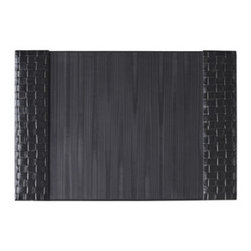 """Horchow - Woven Leather Desk Pad - Exclusively ours. Ruggedly handsome desk accessories organize your work space without sacrificing style. Handcrafted of wax-polished leather and jelutong. Hand finished. Select color when ordering. Letter rack, 10""""W x 6""""D x 6.25""""T. Pen/pencil cup..."""