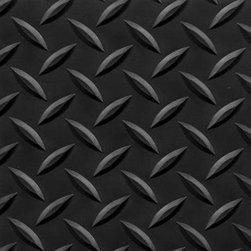 "buyMATS Inc. - 2' x 3' Diamond Foot 9/16"" Solid Color/Black - Features:"