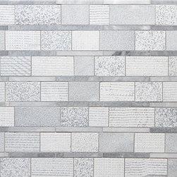 Shift Stripe Mosiac in Grey - Stone Mosaic