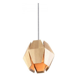 ParrotUncle - Handmade Wood Carambola Shade Pendant Lighting Small - Handmade Wood Carambola Shade Pendant Lighting Small. Wood carved and handmade combination, cute hanging lamp for your house.