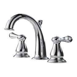 Delta - Leland Two Handle Widespread Bathroom Faucet in Chrome - Delta 3575LF Leland Two Handle Widespread Bathroom Faucet in Chrome.