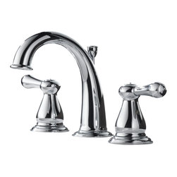 Delta - Leland Two Handle Widespread Bathroom Faucet in Chrome - Delta 3575LF Leland Two Handle Widespread Bathroom Faucet in Chrome.