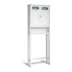 Dawson Space Saver - The Dawson Space Saver part of the Dawson Collection by Elite Home Fashions gives any bathroom a sophisticated yet casual look. With its crisscross design accents and beautiful bright white finish on a durable medium-density fiberboard frame this unit will give your bathroom that modern yet old-world look you want! Some assembly required. Dimensions: 25L x 7.875W x 68H inches.About Elite Home FashionsProviding affordable extravagance Elite Home Fashions has been the nation's foremost manufacturer of bathroom accent furniture and bathroom accessories in the United States. Their customers include some of America's finest and most prestigious retailers department stores and discount retail chains. Elite Home Fashions has traveled the globe to give consumers the best quality and design for their bathroom decor.