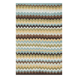"""Loloi Rugs - Hand Hooked Juliana Transitional Rug JULIJL-28EA00 - 5'-0"""" x 7'-6"""" - Breathe casual elegance and flirty fun into any room of your house with the hand-hooked Juliana Collection. Handmade in China of 100-percent polyester, the intricate, high/low texture of these unique rugs is achieved with a mix of petit-point and bolder hooks. Juliana's eye-catching designs feature a selection of transitional florals and stripe patterns that wear a decidedly happy palette. With texture this bold and colors this fun, you will smile every time you walk into your home."""
