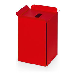 WS Bath Collections - Bandoni 53442.11 Paper Basket in Red - Bandoni 53442.11 Paper Basket in Red by WS Bath Collections