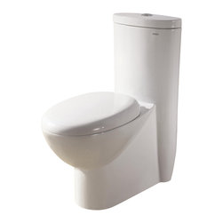 Ariel Bath - Ariel Royal CO1008 Dual Flush Toilet - Ariel cutting-edge designed one-piece toilets with powerful flushing system. Its a beautiful, modern toilet for your contemporary bathroom remodel.