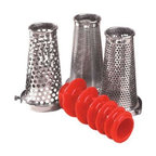 Weston - Roma 4 Pc. Sauce Maker Kit - 4-piece Screen Kit for Roma Manual Tomato Strainer. Make any sauce, puree or salsa with this set of accessories! Berry Screen, Pumpkin/Squash Screen, Salsa Making Screen, Grape Spiral.
