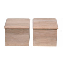 "Pearl Mantel - 6"" Straight Plinth Block Pairs Medium Oak Distressed Finish - Raise it up a notch. If the inside of your mantelpiece needs to be elevated, consider using these plinth blocks. They are designed to support and compliment any style of fireplace surround."