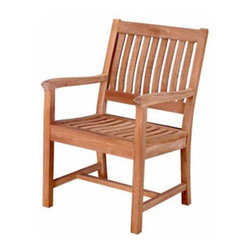 Anderson Teak - CHD087 Rialto Armchair - This simple traditional style-dining chair will never go out of style, but quietly blends with any other design. The seat is very sturdy and comfortable because of the curve that designed to be perfect for your back. Place this chair in your backyard with the dining table, will amazed your family or friends.