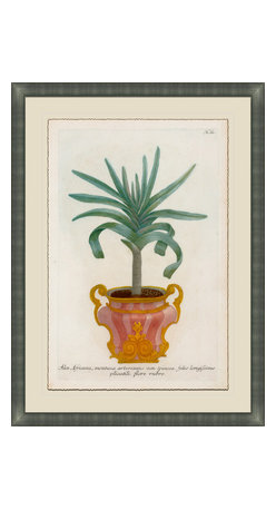 Soicher-Marin - Small Planters A - Giclee Print with a silver contemporary wood frame.  Print mounted on posterboard then floated on an off white mat.  Includes glass, eyes and wire. Made in the USA. Wipe down with damp cloth