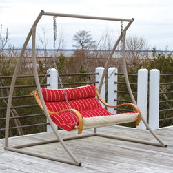 Hatteras Hammocks Deluxe Cushion Swing - A different approach to a well spent afternoon – bond with your special someone in comfort.