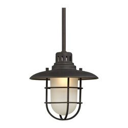 Design Classics Lighting - 9-Inch Nautical Mini-Pendant - 812-78 - This nautical style cage pendant includes one 6-inch and three 12-inch stem segments for various hanging lengths. Takes (1) 60-watt incandescent A19 bulb(s). Bulb(s) sold separately. ETL listed. Dry location rated.
