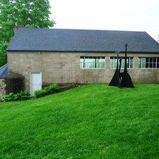 Cinderblock house