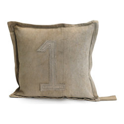 #1 Gypsy Pillow - Add your lucky number to your home decor accessory with this lovely gypsy pillow. It is a French country chic collection with a lucky charm. This amazing rustic pillow is made up of recycled vintage tent canvas which can later be recycled again after you are done with it. Adorned with detailed stitches, each piece has a different flavor of art.