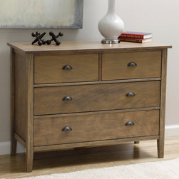 None - Cooper Provence 4-drawer Dresser - Decorate your bedroom decor in luxurious style with the Cooper Provence 4-drawer dresser. This exceptional piece highlights a solid wood construction, two short and two long drawers, and tapered leg styling.