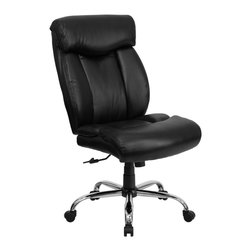 Flash Furniture - Flash Furniture Office Chairs Big and Tall Chairs X-GG-AEL-KB-5321-OG - Get the comfort needed to perform all work tasks in this stylish Big and Tall Office Chair by Flash Furniture. This executive chair comfortably fits users up to 350 lbs. Chair features built-in lumbar support and a spring tilt mechanism. [GO-1235-BK-LEA-GG]