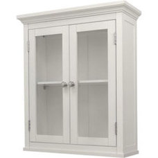 Classique White Wall Cabinet with Two Doors | Overstock.com