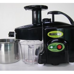 Healthnut Alternatives - Green Power KPE1304 Twin Gear Juicer - Black - Twin Gear juicers provide the most nutrient-rich juice available from a domestic juice extractor. They are the tool of choice for the serious juicing enthusiast and for those who are using juicing to combat poor health or maximum nutrition. Manufactured by the original inventor of the GreenPower Gold (1992), the GreenLife & Greenstar (1998) This juicer is the leader and newest of all imported Twin Gear machines, so you can buy with confidence.