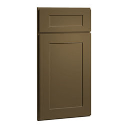 CliqStudios.com - Dayton Tea Leaf Neutral Paint Shaker Kitchen Cabinet Sample - Dayton's Shaker ...
