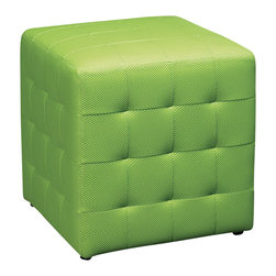 "Avenue Six - Avenue Six Detour 15"" Mesh Fabric Cube in Green - Avenue Six - Ottomans - DTR156 -"