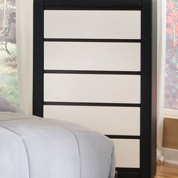 Coaster - Kimball Chest - This impressive bedroom collection offers a new look. The group is completely upholstered and covered in black and white man-made leather giving it a fresh and unique appearance. Create an updated contemporary look in your teenager, guest or master bedroom space.