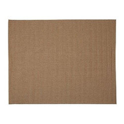 Tonal Stripe Indoor/Outdoor Rug, 2.5 x 9', Neutral - Combining classic style with durability, reversibility and all-weather ease, this rug is a great choice for outdoor spaces or high-traffic areas indoors. Its thin tonal stripes are woven with a texture resembling the natural look of sisal. Woven from synthetic yarns. Use with our Rug Pad (sold separately) to help extend the life of your rug. Imported. Watch a video about the entire process of crafting our {{link path='/stylehouse/videos/videos/pbq_v20_rel.html?cm_sp=Video_PIP-_-PBQUALITY-_-HANDMADE_RUGS' class='popup' width='950' height='300'}}handmade rugs{{/link}}.