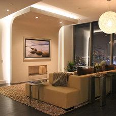 Contemporary Living Room by Mauricio Nava Design