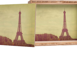 DENY Designs - Happee Monkee Eiffel Tower Storage Box - Love yourself a knickknack or two (or three)? Well, then this is the box for you! The Amber Bamboo wooden Storage Box is available in two sizes with a printed exterior lid and interior bottom. So, you can still be a collector of sorts, but now you've got an organized home for it all. 100% sustainable, eco-friendly flat grain amber bamboo wood box with printed glossy exterior lid and interior bottom. Custom made in the USA for every order.