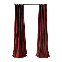 """Exclusive Fabrics & Furnishings, LLC - Syrah Faux Silk Taffeta Curtain - 56% Nylon & 44% Polyester. 3"""" Pole Pocket with Hook Belt. Lined. Interlined. Imported. Weighted Hem. Dry Clean Only. SOLD PER PANEL."""