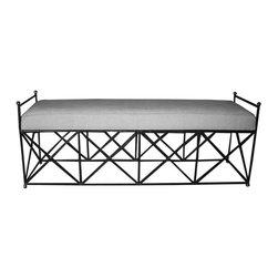 NOIR - NOIR Furniture - Metal Industry Bench - GBEN110 - Features: