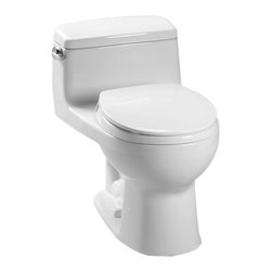 Toto - Toto MS863113E#01 Cotton White Eco Supreme Toilet, 1.28 GPF - The UltraMax collection gives your bath a modern, tapered design flow and classically simple style.